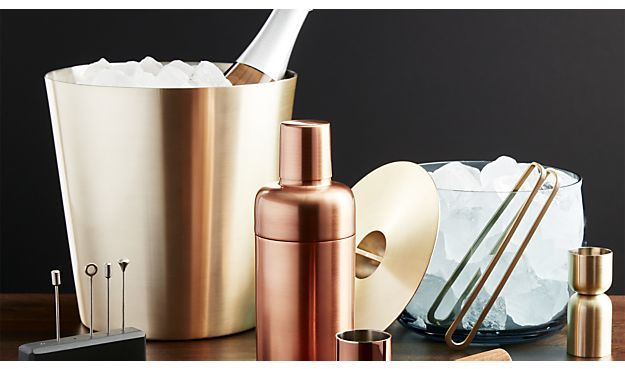 Crate & Barrel Orb Copper Shaker