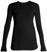 Vince Cotton and cashmere-blend long-sleeved T-shirt