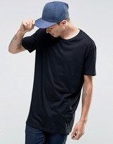 Brave Soul Long Line Plain T-Shirt