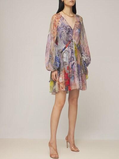 Thumbnail for your product : Zimmermann Luminous Silk Chiffon Mini Dress