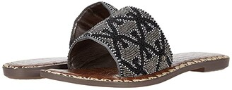 Sam Edelman Gunner (Pewter Multi Beaded Double E Repeat) Women's Sandals