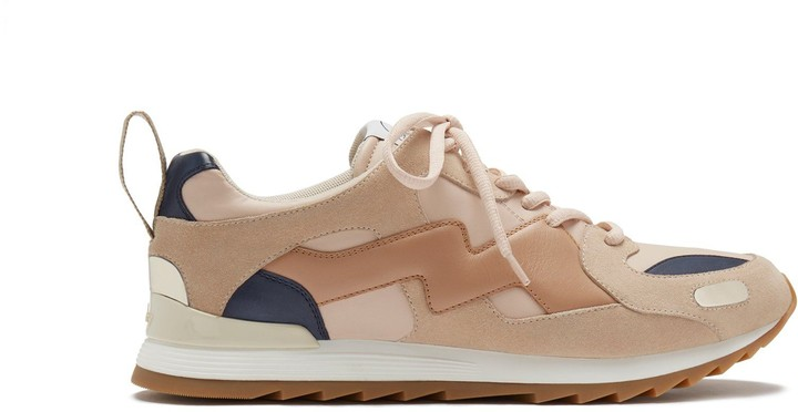 Mulberry MY-1 Lace-up Sneaker Nude Smooth Calfskin