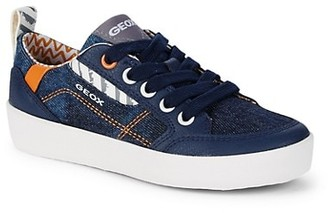 Geox Boy's Denim Low-Cut Sneakers