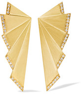 Ileana Makri Fan 18-karat Gold Diamond Earrings - one size