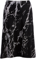 Three Dots Black Abstract Easy A-Line Skirt