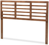 Baxton Studio Trudi Mid-Century Modern Walnut Brown Wood Full Open Slat Headboard