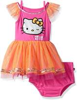 Hello Kitty Little Girls' Tutu Dress with Sequin Details