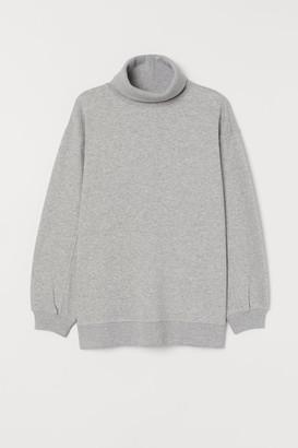 H&M Oversized Turtleneck Top - Gray