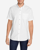 Eddie Bauer Men's Signature Twill Classic Fit Short-Sleeve Shirt - Solid