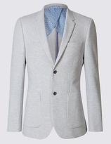 Limited Edition Grey Cotton Blend Jersey Jacket