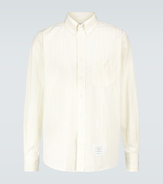 Thom Browne Hairline striped long-sleeved shirt