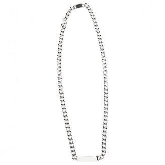 Maison Martin Margiela Silver Metal Necklaces