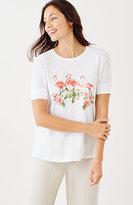 J. Jill Flamingos & Flowers Tee