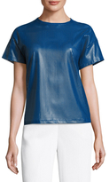 Anne Klein Faux Leather Tee Blouse