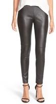 Trouve Women's Faux Leather Leggings
