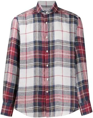 Brunello Cucinelli Plaid Linen Shirt