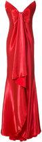 Oscar de la Renta draped hi-low gown