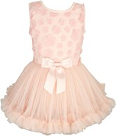 Popatu Flower Applique Tutu Dress