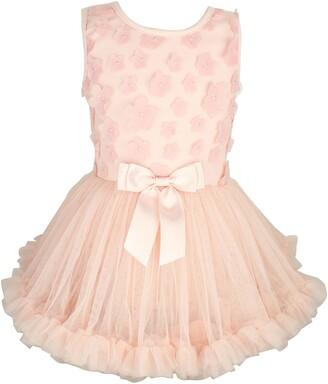 Popatu Flower Applique Tutu Dress