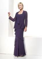 Alyce Paris Mother of the Bride - 29292 Dress in Eggplant