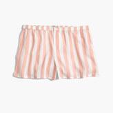 Madewell Oxford Bedtime Pajama Shorts