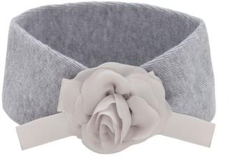 La Perla Wool Knit Headband W/ Flower Applique