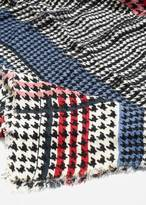 MANGO Houndstooth knit scarf