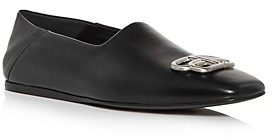 Balenciaga Men's Cosy Bb Leather Loafers