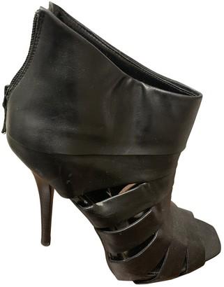 Sarah Jessica Parker Black Leather Heels