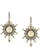 Alexander McQueen insignia clip-on earrings