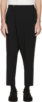 Isabel Benenato Black Wrap Front Trousers