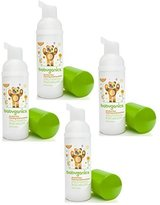 BabyGanics Alcohol-free Foaming On-The-Go Hand Sanitizer Bundle - 4 Items: Mandarin 50 ml Bottles by