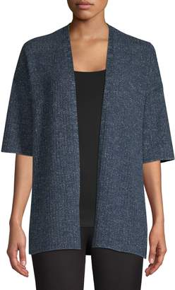 Eileen Fisher Open-Front Cotton-Blend Cardigan