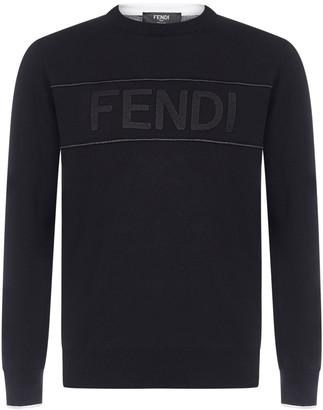 Fendi Logo Embroidered Sweatshirt