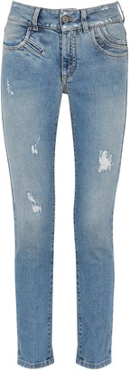 Givenchy Blue Distressed Skinny Jeans