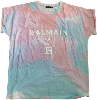 Balmain Blue Cotton T-shirts
