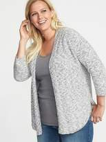 Old Navy Plus-Size Open-Front Marled Sweater
