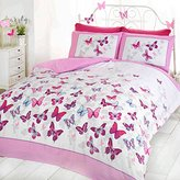 Just Contempo Butterfly Duvet Cover Set - Single, Pink