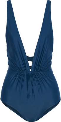 Tori Praver Swimwear Andie Lace-up Ruched Swimsuit