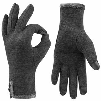 Yukis Winter Gloves for Women Touch screen GlovesLadies Super Soft Winter Warm Skiing Running Gloves