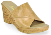 Footnotes Christina - Tan Leather Wedge Sandal