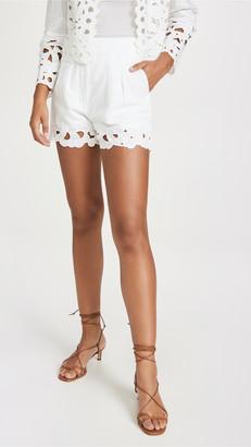 La Vie Rebecca Taylor Ella Embroidery Shorts