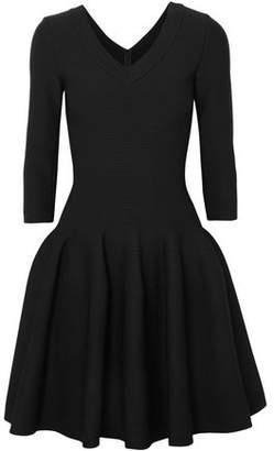 Alaia Flared Textured Stretch-knit Mini Dress