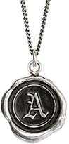 Pyrrha Unisex 925 Sterling Silver Initial A Talisman Necklace