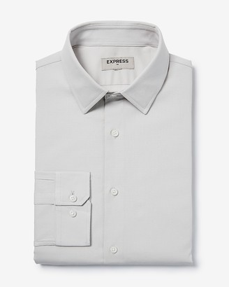 Express Slim Solid Dress Shirt