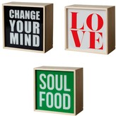 Seletti hange Your Mind\/Love\/Soul Food Light Box