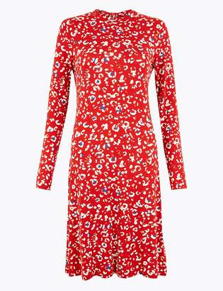 Marks and Spencer Animal Print Jersey Swing Dress