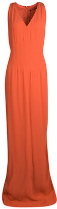 Boss By Hugo Boss Orange Sleeveless V-Neck Dallisia Dress M