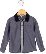Armani Junior Boys' Striped Button-Up Shirt
