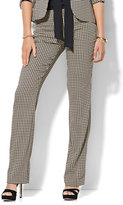 New York & Co. 7th Avenue Design Studio - Signature - Universal Fit - Straight-Leg Pant - Houndstooth - Petite